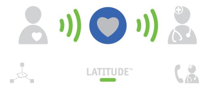 LATITUDE™ Home Monitoring System -  device illustration of communicator light