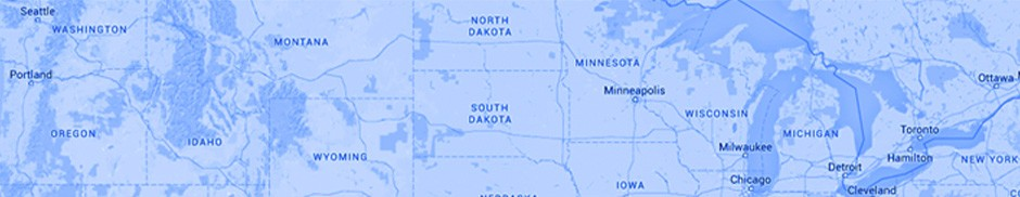 Map of the northern part of the United States