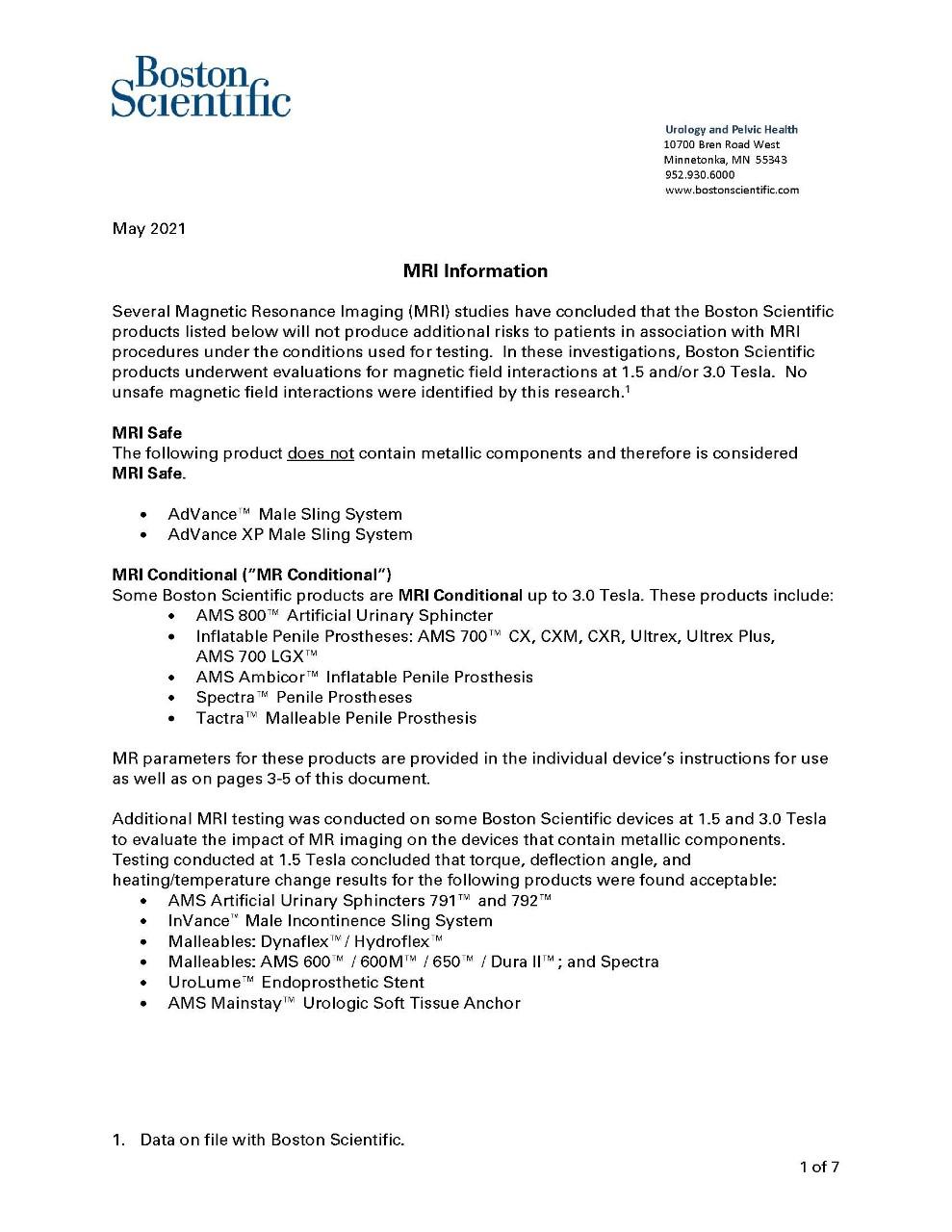 MRI Letter
