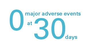 0 major adverse events at 30 days