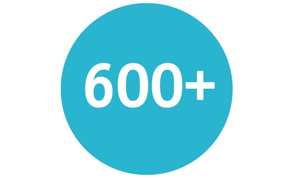 600+ Certified Operators  in the U.S.