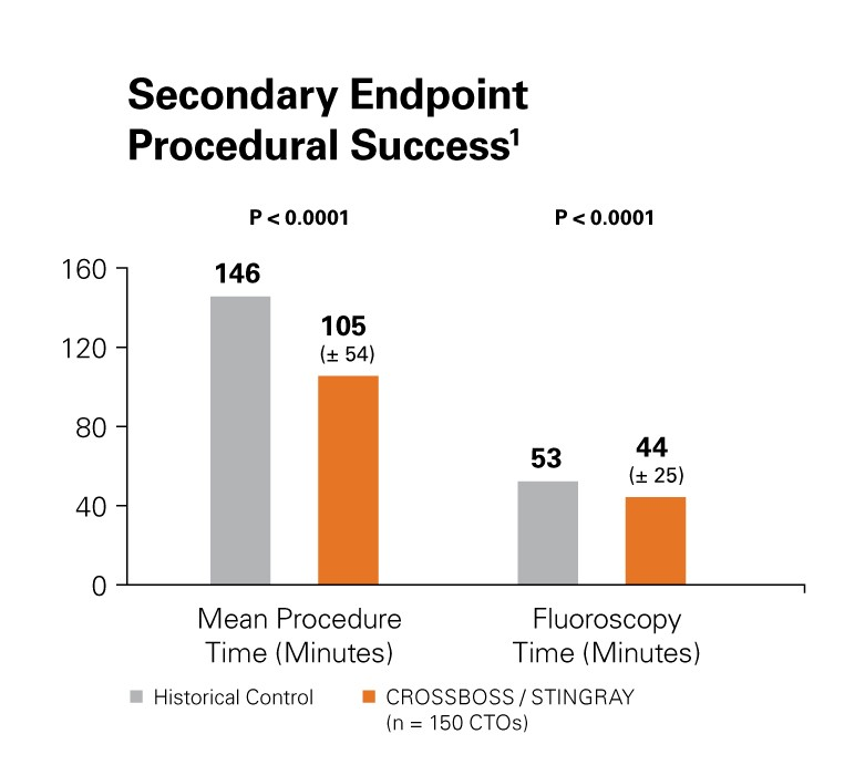 CTO System Secondary Endpoint Procedural Success