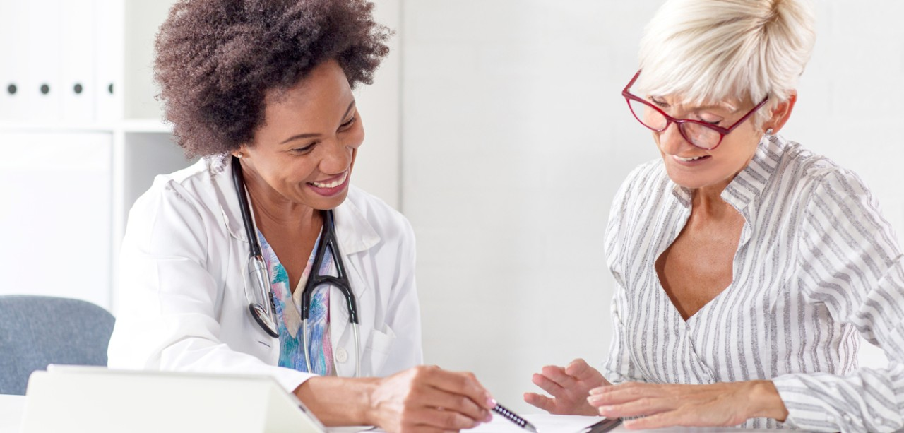 doctor talking to patient about Atrial Fibrillation