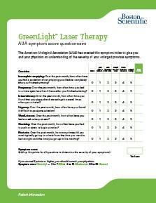 AUA Symptom Score Questionnaire Thumbnail
