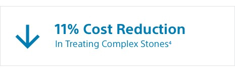 11% cost reduction in treating complex stones