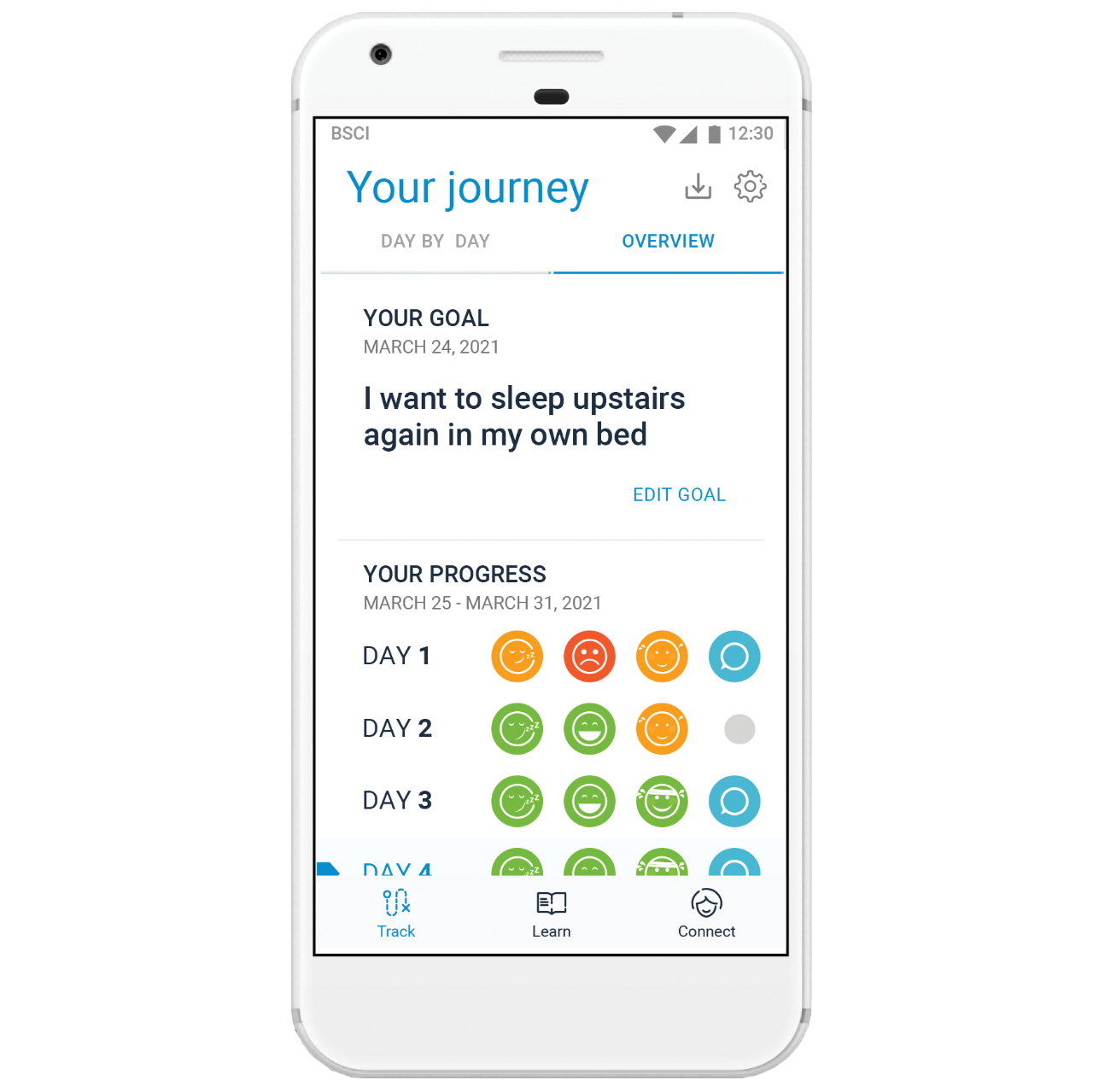 mySCS app Your Journey screen