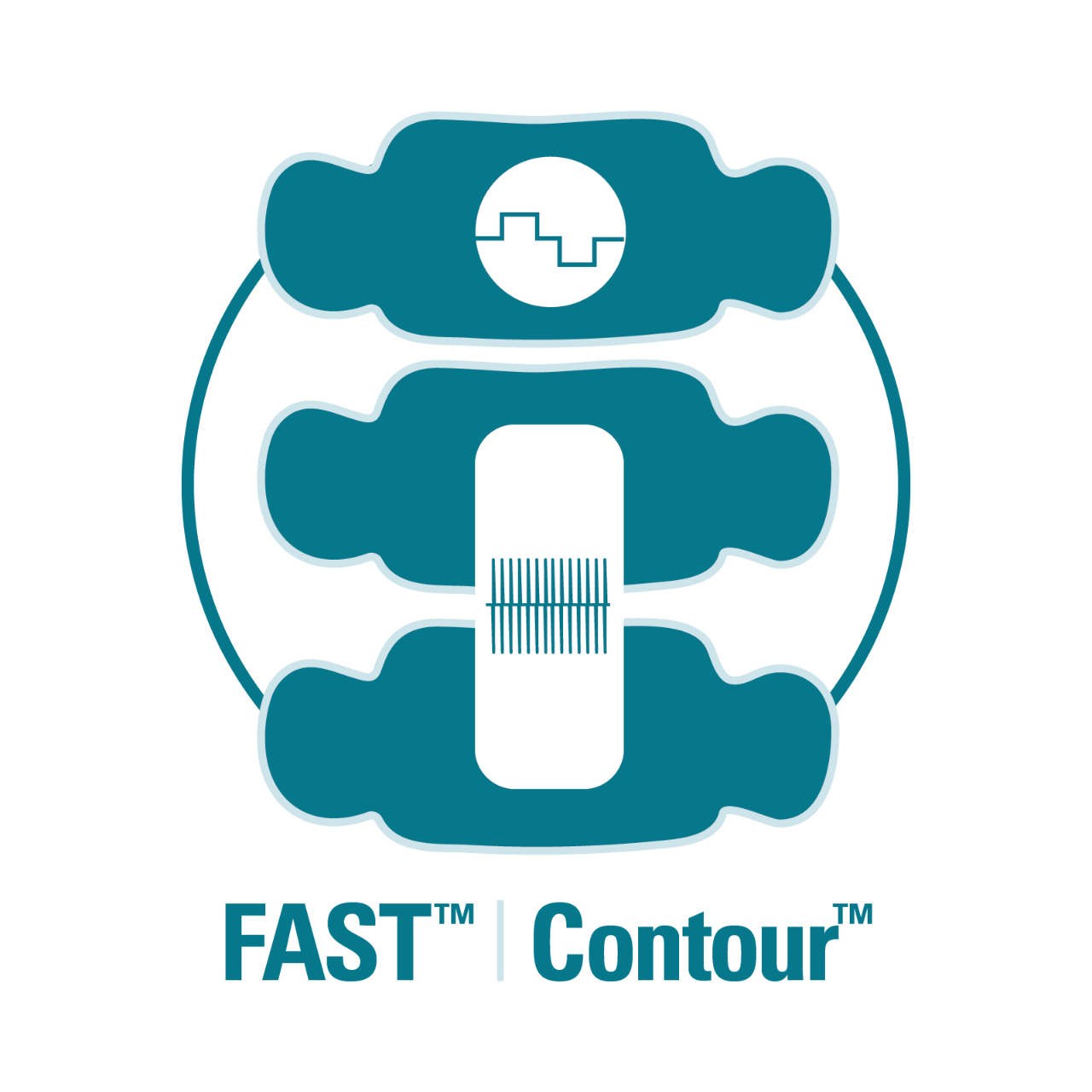 FAST and Contour therapy stimulate a spine simultaneously