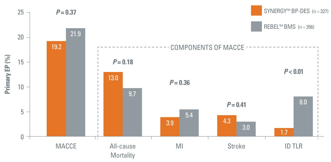 Primary Endpoint: MACCE at 12-months