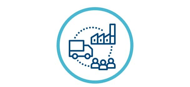 Sustainable Supply Chain Icon