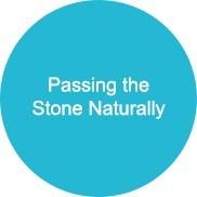 Passando a pedra naturalmente
