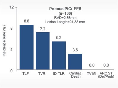 Promus EES stent incident rate on long lesions